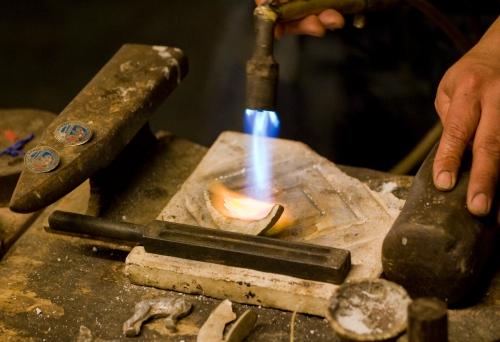 Silver jewlery maker.