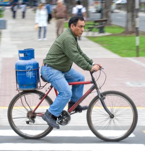 Propane powered Bicycle.