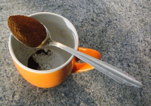Spoonful of coffee