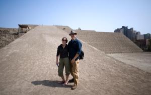 Jessie and Robert at Huaca Hualamarca.
