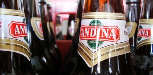 Seas of beer bottles from Cerveceria Andina