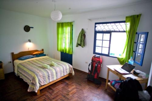 Rock-solid bed at Hostal Naylamp
