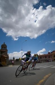 The Plaza de Armas becomes a velodrome.