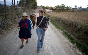 Flor, Jessie, and Flor's horses