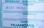 bus ticket to Tarma Peru