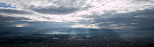 panoramic Cajamarca morning
