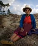Flor, an indigenous woman in Celendin Peru