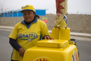 Ice cream vendor in Huanchaco