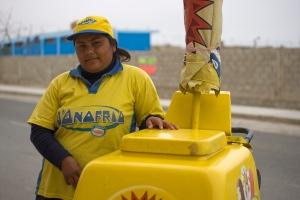 Ice cream vendor in Huanchaco