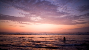 Huanchaco beach sunset