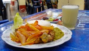 Polle echabado at Restaurante el Pacifico in Huanchaco