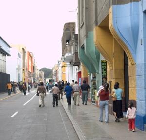 Pizarro, Trujillo's main shopping street
