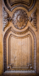 Big carved door.