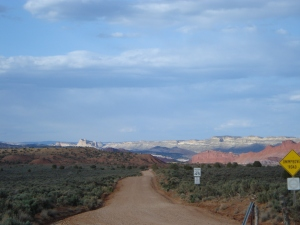 Dirt road going into Escalante Grand Staircase national monument