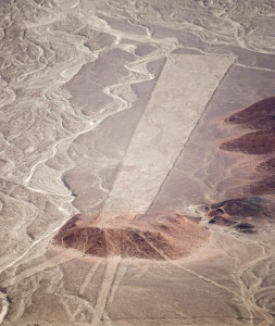 Winding dryriverbeds amid the Nazca lines